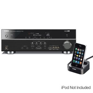 Affordable Yamaha RXV567BL Receiver And iPod Dock Bundle