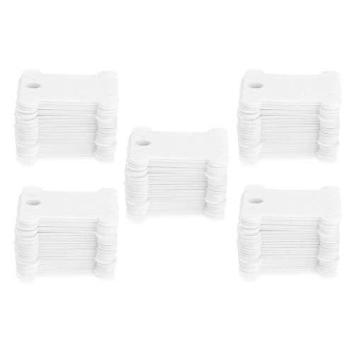 Demiawaking 120 Pezzi Farfalline Avvolgifilo Ricamo in Plastica Bianco Bobine di Filo da Ricamo per Punto Croce Cucito Organizzatore Portafili