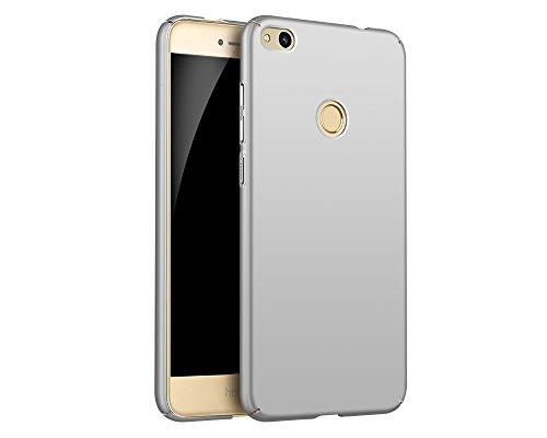 EIISSION Case Kompatibel mit Huawei P8 Lite (2017) Hülle, Hardcase Ultra Dünn Huawei P8 Lite (2017) Schutzhülle aus Hart-PC Case Cover Handyhülle für Huawei P8 Lite (2017) (Silber)