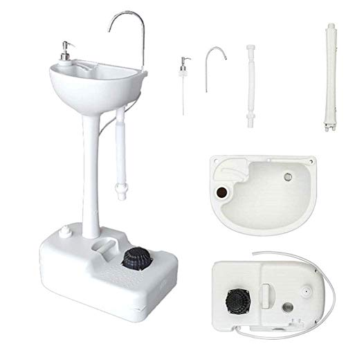 Washing Table Portable Mobile Freestanding Hand Wash Sink Cistern Mobile Sink for Camping, Caravans, Outdoor Activities, Kitchen and More