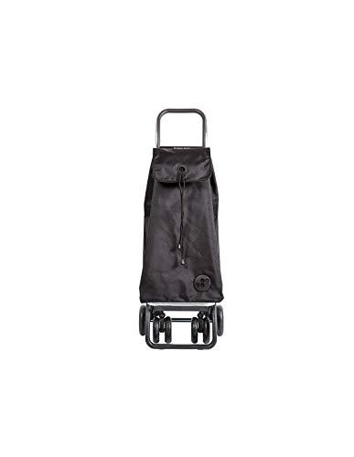 Rolser Logic Tour/I-Max Einkaufsroller, Aluminium, schwarz, 39.5x19x64.5 cm