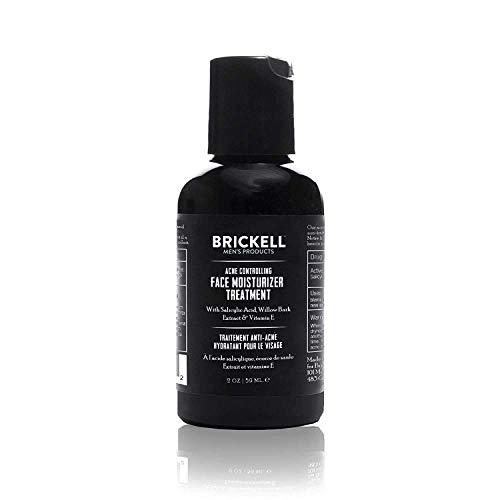 Trattamento idratante viso per uomo Brickell per il controllo dell acne maschile, per eliminare l acne, uniformare il tono della pelle e idratare la pelle, acido salicilico al 2%, 59 mL