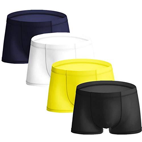 TIGERROSA Shorts Boxer para Hombre 4 Pcs Summer Men Boxer Homme Sexy Boxers Boxershort Man Underpants Male Panties Boxer Men Silk Underwear Boxer Style G@L