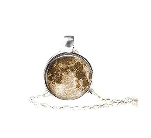 Collar de luna de oro, collar de fase lunar, colgante de luna de plata, fases de la luna, colgante de luna, collar de luna y estrella