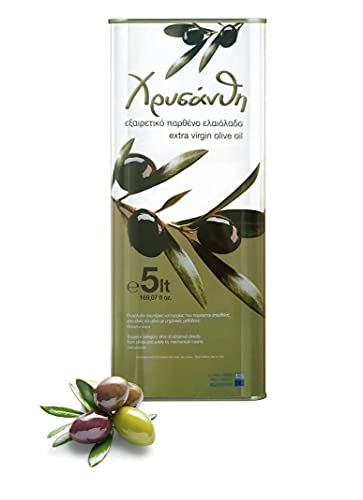 Chrisanthi   Extra natives Premium Olivenöl aus Kreta   Erste Güteklasse   Kaltextrahiert   5 Liter Kanister