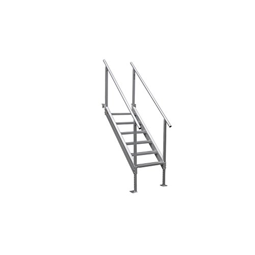 Extreme Max 3005.3846 Universal Mount Aluminum Dock Stair - 6-Step