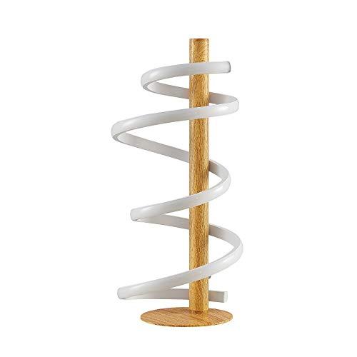 LED Lámpara de mesa 'Milora' (Moderno) en Marrón hecho de Aluminio e.o. para Salón & Comedor (1 llama, A+) de Lucande   lámpara de mesa LED