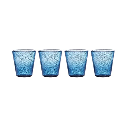 BUTLERS Water Colour Trinkglas 4er Set 290 ml in Rot - Glas-Set für 4 Personen - Bunte Wassergläser, Saftgläser
