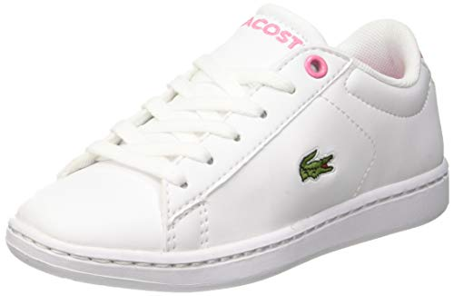 Lacoste Unisex-Child Carnaby EVO BL 2 SUC Sneaker, Weiß (B53 White/Pink), 32 EU