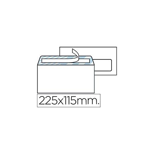 Liderpapel Sobre N.4 Blanco Americano Ventana Derecha 115X225Mm Tira De Silicona Open System Caja De 500 Unidad