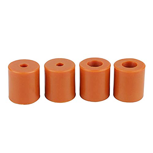 Vegena 3D Printer Heatbed Parts, 4 Pieces 18 mm / 0.7 Inch 3D Printer Bed Holder Uncore, 3D Printer Heated Bed Levelling Heatbed Parts Accessories Silicone Buffer Silicone Damper, Brown