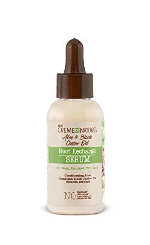 Creme of Nature Aloe & Black Castor Oil Creme Of Nature Aloe & Black Castor Oil Recharge Serum, 2 Ounce