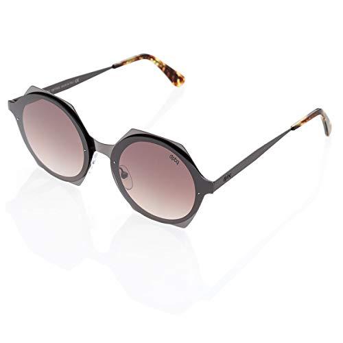 DP69 Mod. Optika_ gafas de sol redondas Glasand en metal satinado marrón...