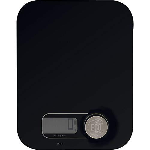 WEIS 10539 »Eco Pro« Küchenwaage, Länge: 245 mm, Breite: 190 mm, schwarz, Glas/Kunststoff