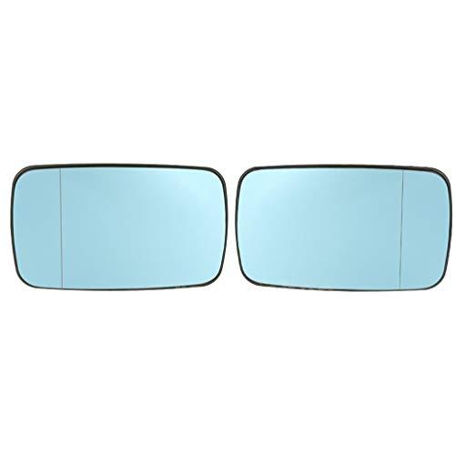 Elenxs 1 Par Azul Coche de sustitución Lado Izquierdo Derecho climatizada Espejo retrovisor de Cristal para E46