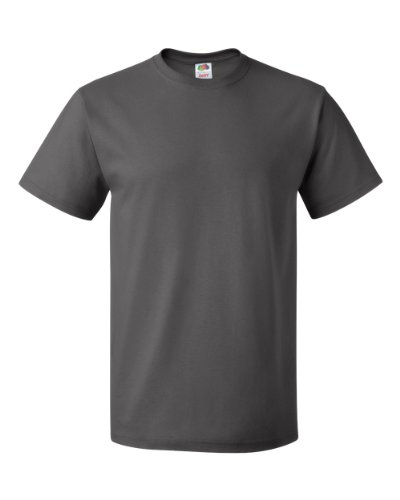 Fruit of the Loom T-Shirt (Valueweight), 27 Farben, kleine bis - Charcoal - 2XL