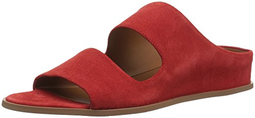 Aquatalia Women's Abbey Suede Sandal, red, 5.5 M US
