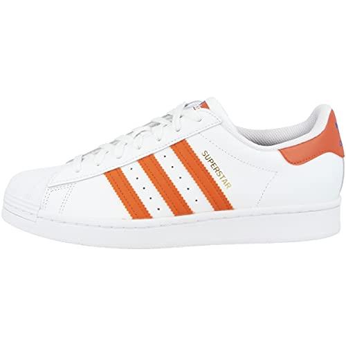 adidas Zapatillas para hombre Low Superstar, color Blanco, talla 43 2/3 EU