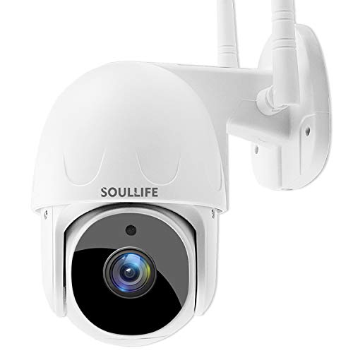 SoulLife Security Camera Outdoor, 1080P PTZ Camera with Pan/Tilt 360° View Night Vision, WiFi Home...