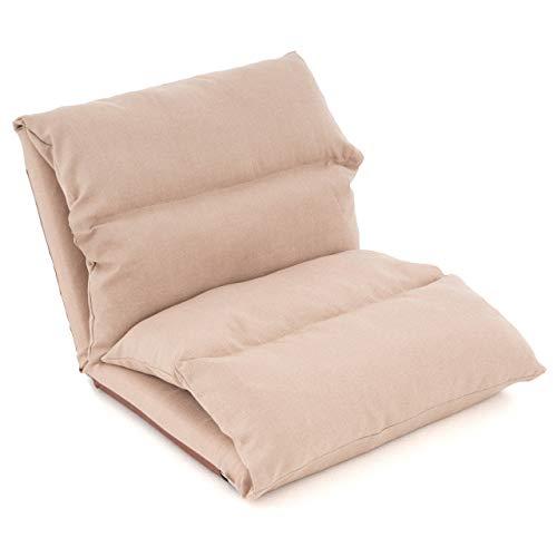 Nexos Lounger Relax-Sessel Lesestuhl mit Kissen - klappbar waschbar verstellbare Rückenlehne Schlaffunktion – 52x65x60 cm Khaki