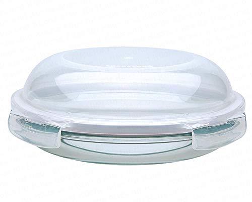 4 Stück Lock & Lock Boroseal LLG883, Frischhaltebehälter aus Borsilikatglas, gewölbt 18 cm, Vorratsdose rund, Ø 195 x 65 mm, Set by Danto®