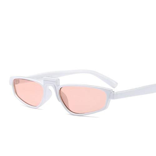 YIERJIU Sonnenbrillen Sonnenbrille Platz Elegante Frauen Brillen Steampunk Stil Kleine Grenze Gläser Schild Weibliche Brillen Rihanna Sonne Glas,D