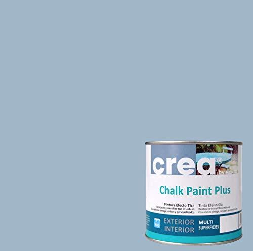 Pintura a la Tiza – Chalk Paint – Pinturas para decoración, restauración de muebles, madera – Pintura efecto Tiza (500ml) (Azul Fume)