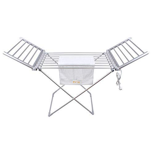 MORADIYA FRESH LABEL Moradiya Fresh Aluminium Electric Foldable Clothes Drying Rack Dryer Three Way Folding Stand for Your Daily Needs, No Sunlight Required to Dry Clothes(Silver)