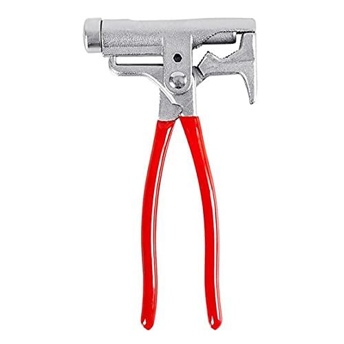 DBOATB Martillo Multifuncional, Llave de Tubo, alicates 10 en 1 Rojo portátil, Destornillador de Bolsillo, con Carpintero, para Acampar al Aire Libre de Emergencia