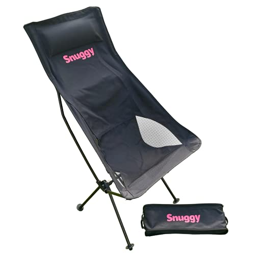 Snuggy Silla de camping ultraligera – Silla plegable de alta calidad – Fácil de montar en 30 segundos – para mochileros, pesca, senderismo, viajes, pícnic