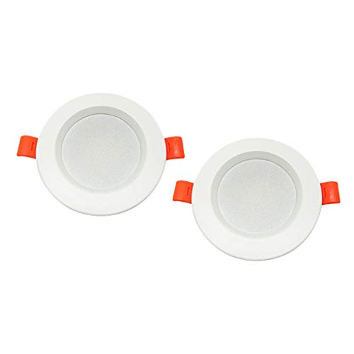 Baoblaze Lámpara de Pared Downlight de Techo Regulable con Luz LED de Montaje en Superficie 3500K / 6500k - 2pcs-3500K, Individual