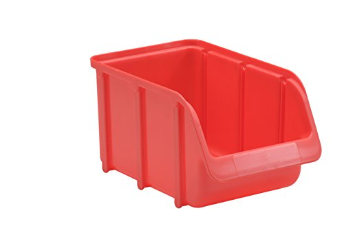 hünersdorff Sichtbox / Stapelbox / Lagerbox in Größe 3, stapelbar, Farbe: Rot