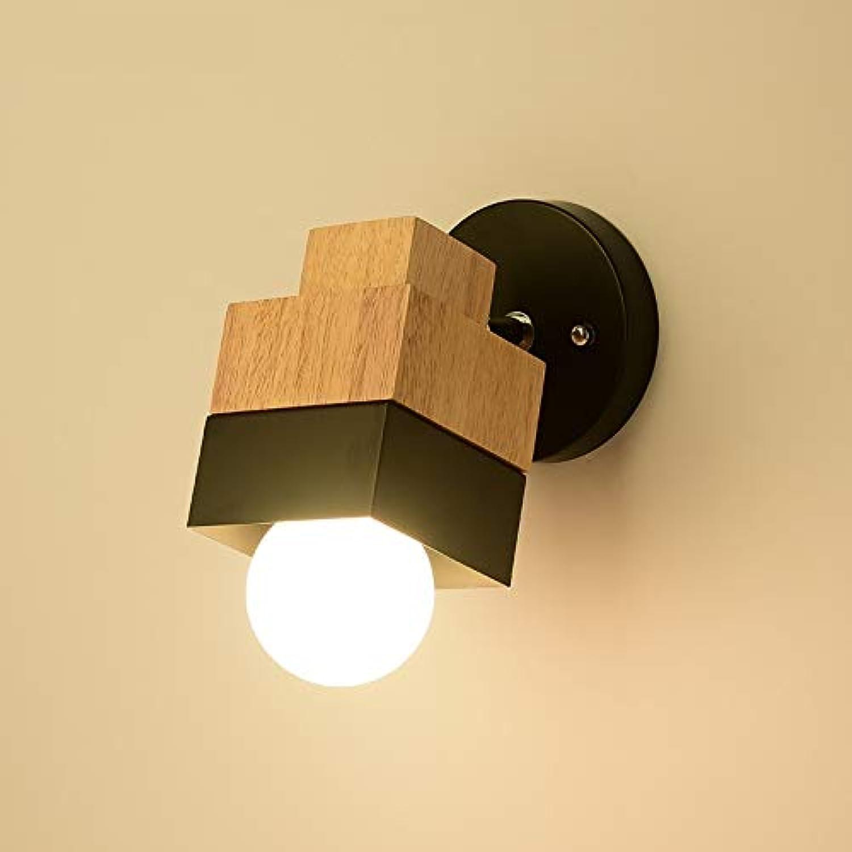 Moderne Wandleuchte Einfache Holz & Eisen Kreative Japanischen Stil Einfache Frühe Lampe E27 5 Watt LED Für Büro Nacht Schlafzimmer
