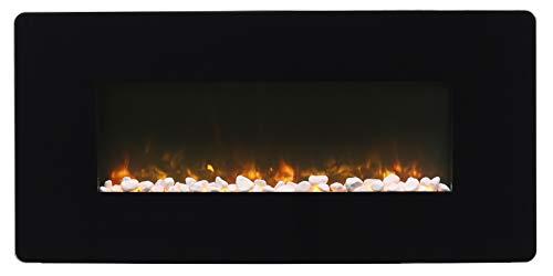 DIMPLEX Winslow 35' Wall-Mount Electric Fireplace, Model: SWM3520, 120V, 1400W, 11.7Amps, Black