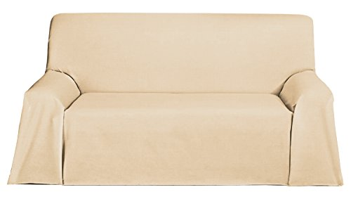 Martina Home Foulard, Tela, Crudo, 300 x 270 cm