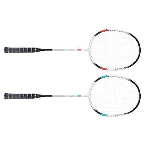 CHICIRIS Sporttrainingsschläger, leichtes Outdoor-Sportgerät, 520 Badmintonschläger, 2 Stück für Outdoor-Spaßwettbewerbstraining Erwachsene drinnen