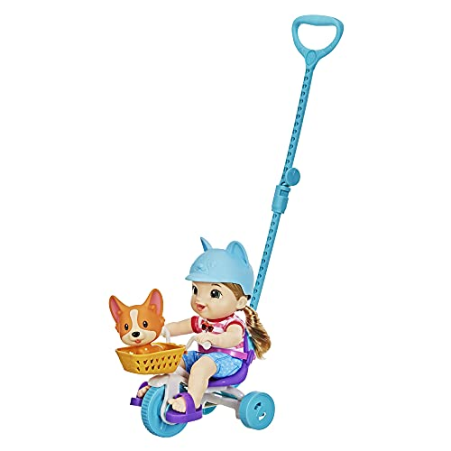 Baby Alive Littles, Roll ?n Pedal Trike, Doll Tricycle with Push-Stick, Little Jade Doll, Pet Accessory, Toy for Kids 3 Years Old and Up