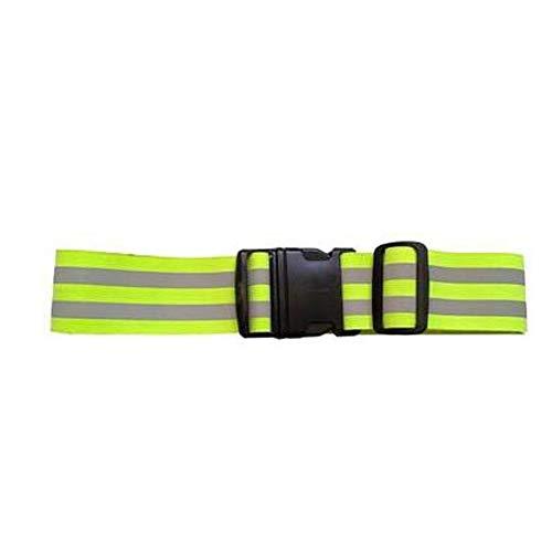 MKJYDM Reflektierender Gürtel, der frei läuft und gut läuft Reflektierende Westen (Color : Green)