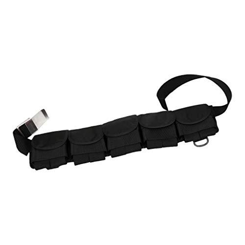 #N/A Tauchen Gewicht Tasche Beutel Gürtel, Tauchen Bleigürtel Taschenbleigurt Gewichtstasche Tauchgürtel - 5 Taschen