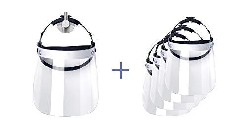 5er Pack ULBRICHTS Faceshield mit Ersatzvisieren - Qualität aus Österreich - Kaufen vom Profi - Gesichtsschild Gesichtsschutz Gesichtsschutzvisier Gesichtsvisier Mundschutz Mund-Nasen-Schutz MNS
