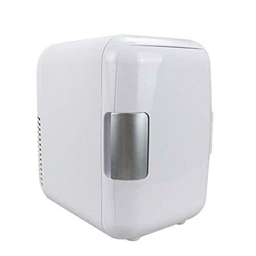 FIONAT Mini refrigerador portátil para automóvil de 4L 12V / 220V 50W Uso del automóvil Congelador silencioso de bajo ruido Calentador calefacción Enfriador de cerveza 17.5 * 23 * 24cm-Blanco
