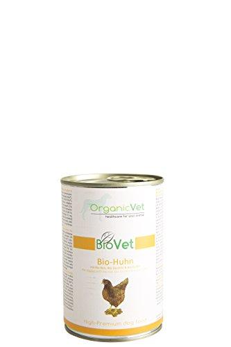 ORGANICVET Hund Nassfutter BioVet Bio-Huhn mit Bio-Reis, Bio-Zucchini und Bio-Kürbis, 6er Pack (6 x 400 g)