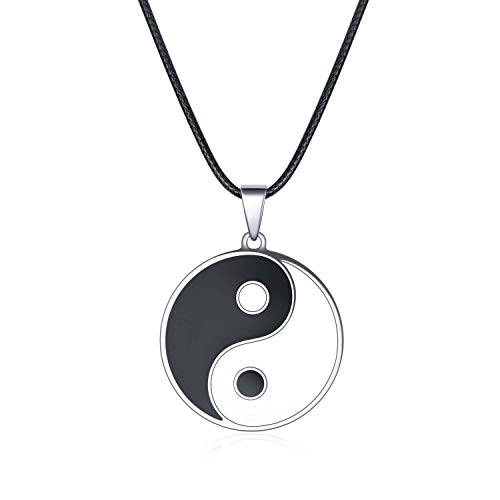 Yanxyad Yin Yang Choker Pendant Necklace for Women or Men (Style: Yin and Yang-A)