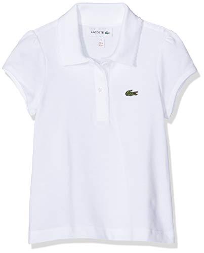 Lacoste Mädchen PJ3594 Poloshirt, Weiß (Blanc), 8 Jahre (Herstellergröße: 8A)