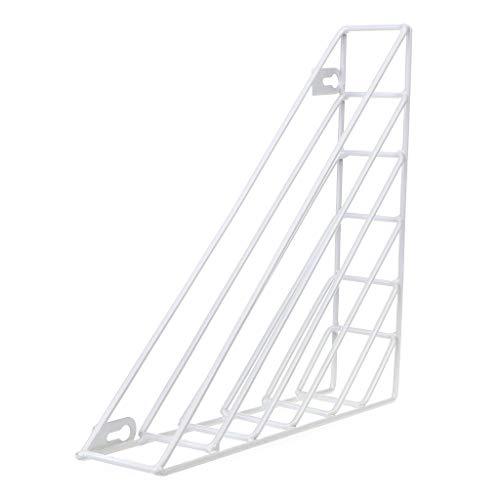 RG-FA Regal für Zeitschriften, geometrisch, aus Eisen weiß
