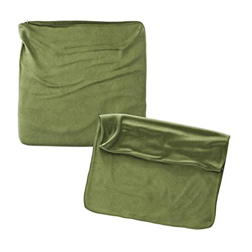 Cojines Sofa 70x70 Color Verde Pack de 2 Fundas de cojin Decorativos para Sofa , Cama , Salon / Funda de Terciopelo Elegantes y Modernas para la decoración del hogar sin Relleno