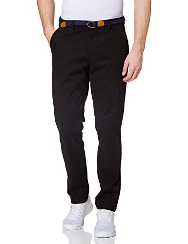 ONLY & SONS Herren ONSWILL Life Chino REG Belt PK 9648 Hose, Black, 34/32