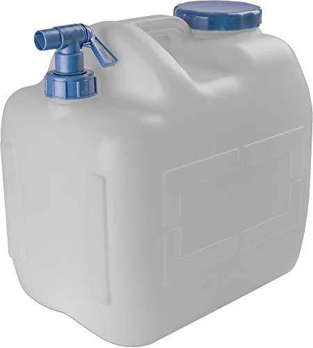 normani Wasserkanister Wassertank Trinkwasserbehälter Camping-Kanister mit Hahn und Deckel 10 Liter bis 23 Liter - HD-PE lebensmittelecht, geschmacks- und geruchsneutral Farbe 23L