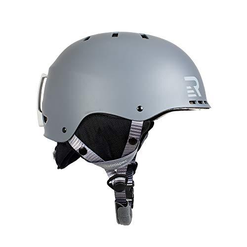 Retrospec Traverse H2 2in1 Convertible Ski amp Snowboard/Bike amp Skate Helmet with 14 Vents Matte Charcoal Small/Medium 5458cm