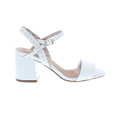 Bronx Sandaletten Jagger 84734-H Lack Leder Riemchen Nieten Sandalen, Schuhgröße:36 EU, Farbe:Weiß